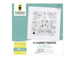 "4 Cadres coloriages Pirates ""Pirouette Cacahouète"""