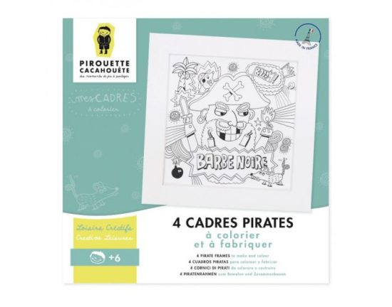 4 Cadres coloriages Pirates