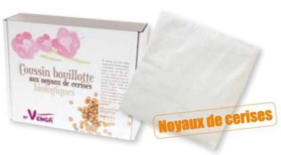 Coussin Bouillotte Noyaux de cerise