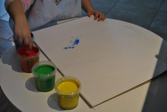 4 pots peintures aux doigts