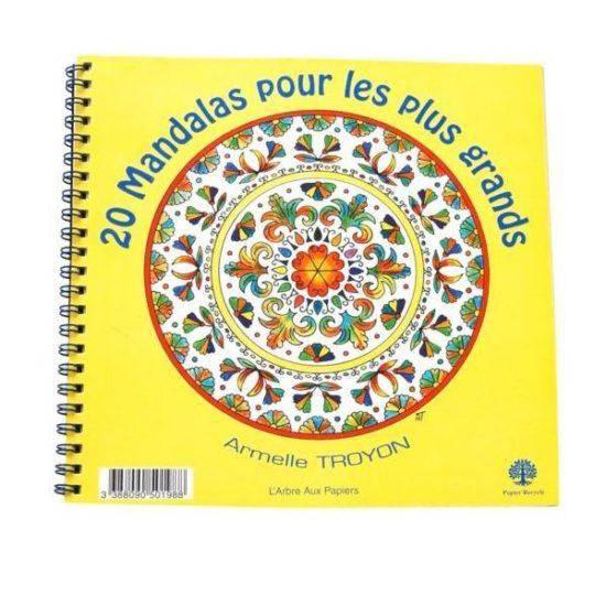 Cahier 20 Mandalas pour les plus grands