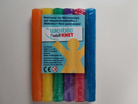 Pâte à modeler 6 couleurs pastel