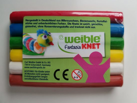 "Pâte à modeler 6 couleurs ""Carl Weible"""