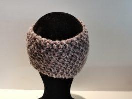 Bandeau laine violet