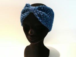 Bandeau laine bleu