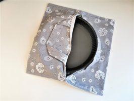 Sac à tarte en tissu gris