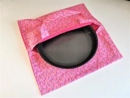 Sac à tarte en tissu rose