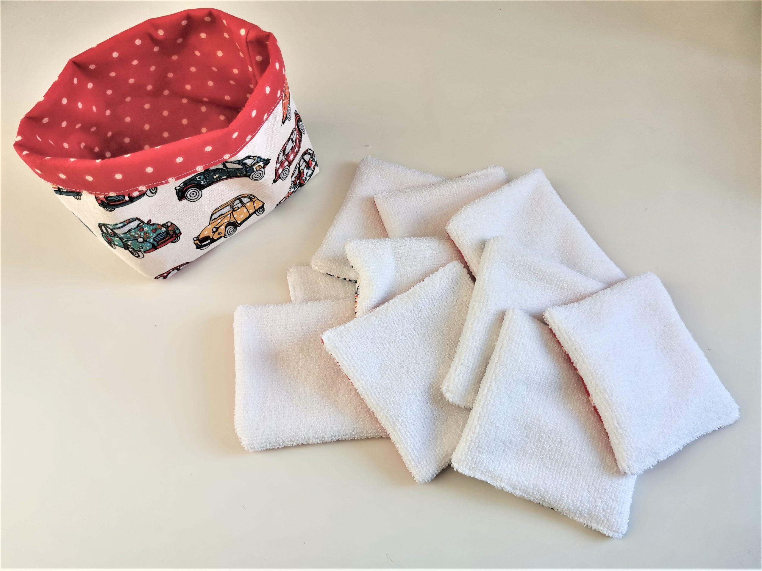 Lingettes lavables voitures Artisanale