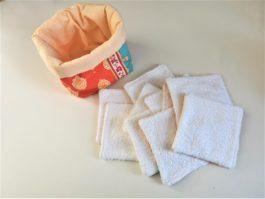 Lingettes lavables orange Artisanale
