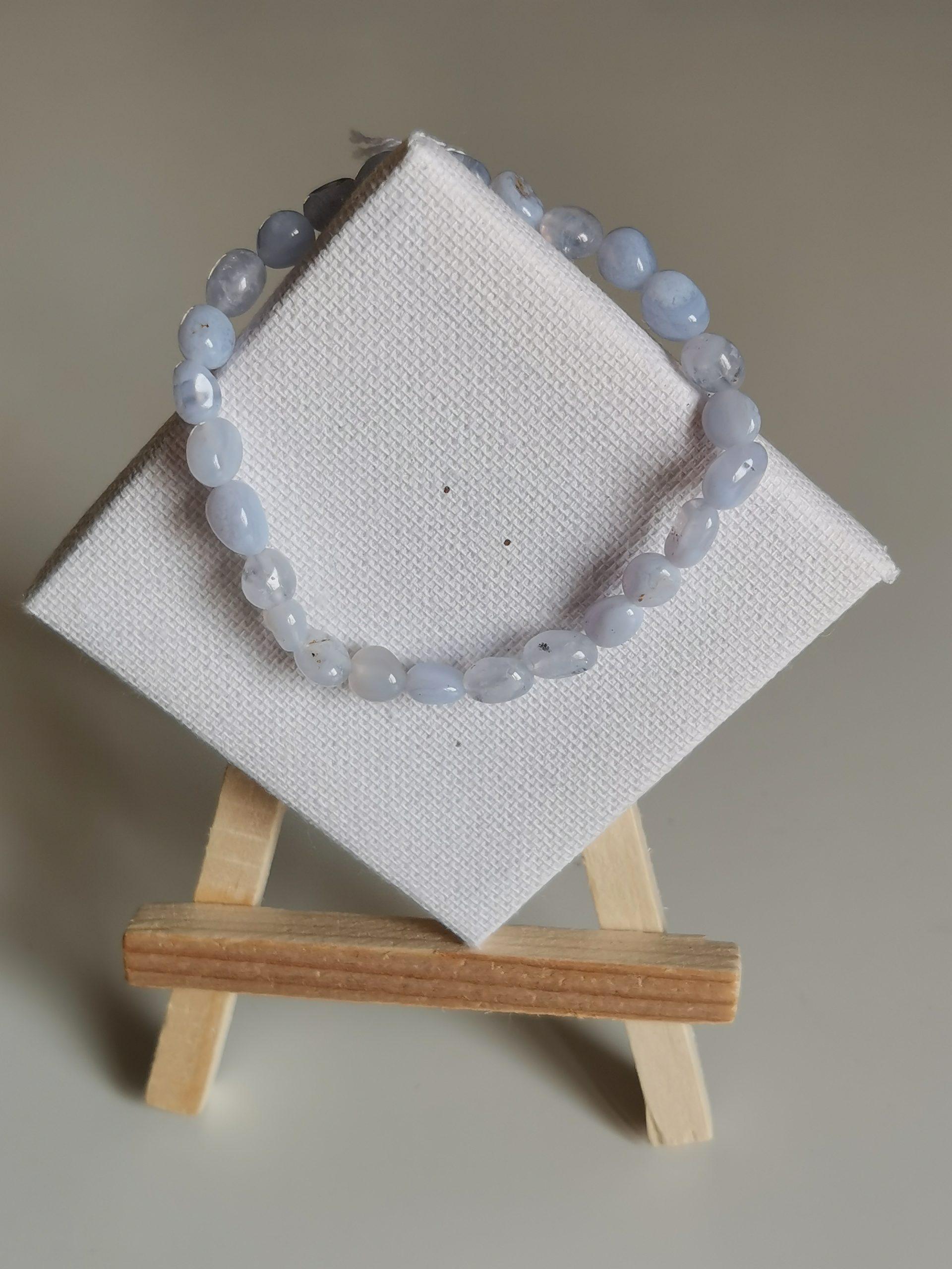 Bracelet agate blue lace