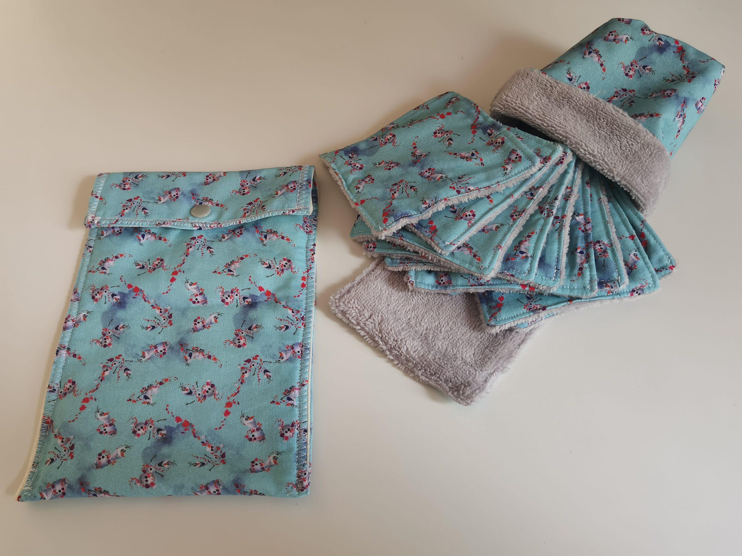 Lot pochette imperméable et 10 Lingettes lavables Olaf