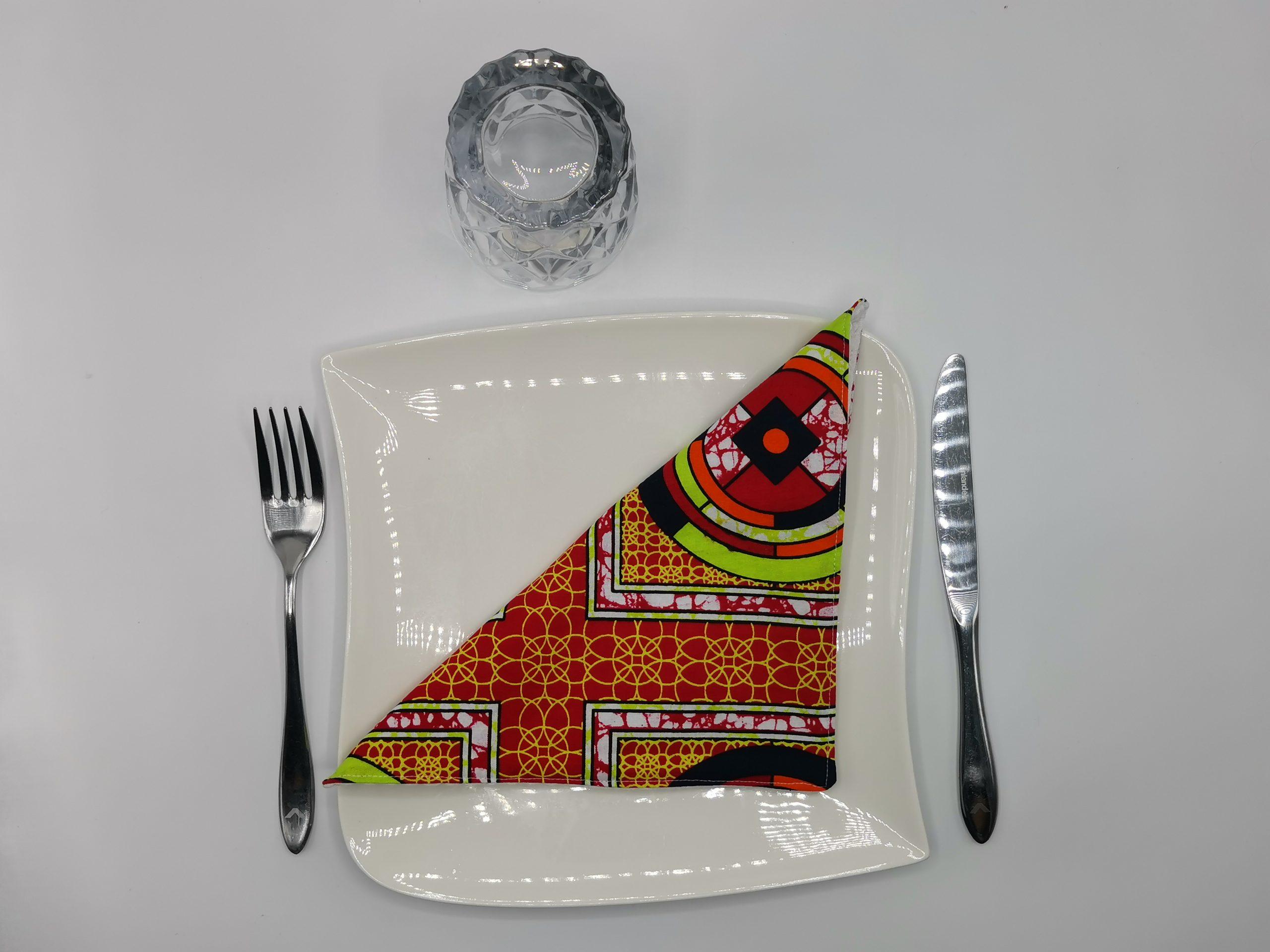 Serviette de table africain