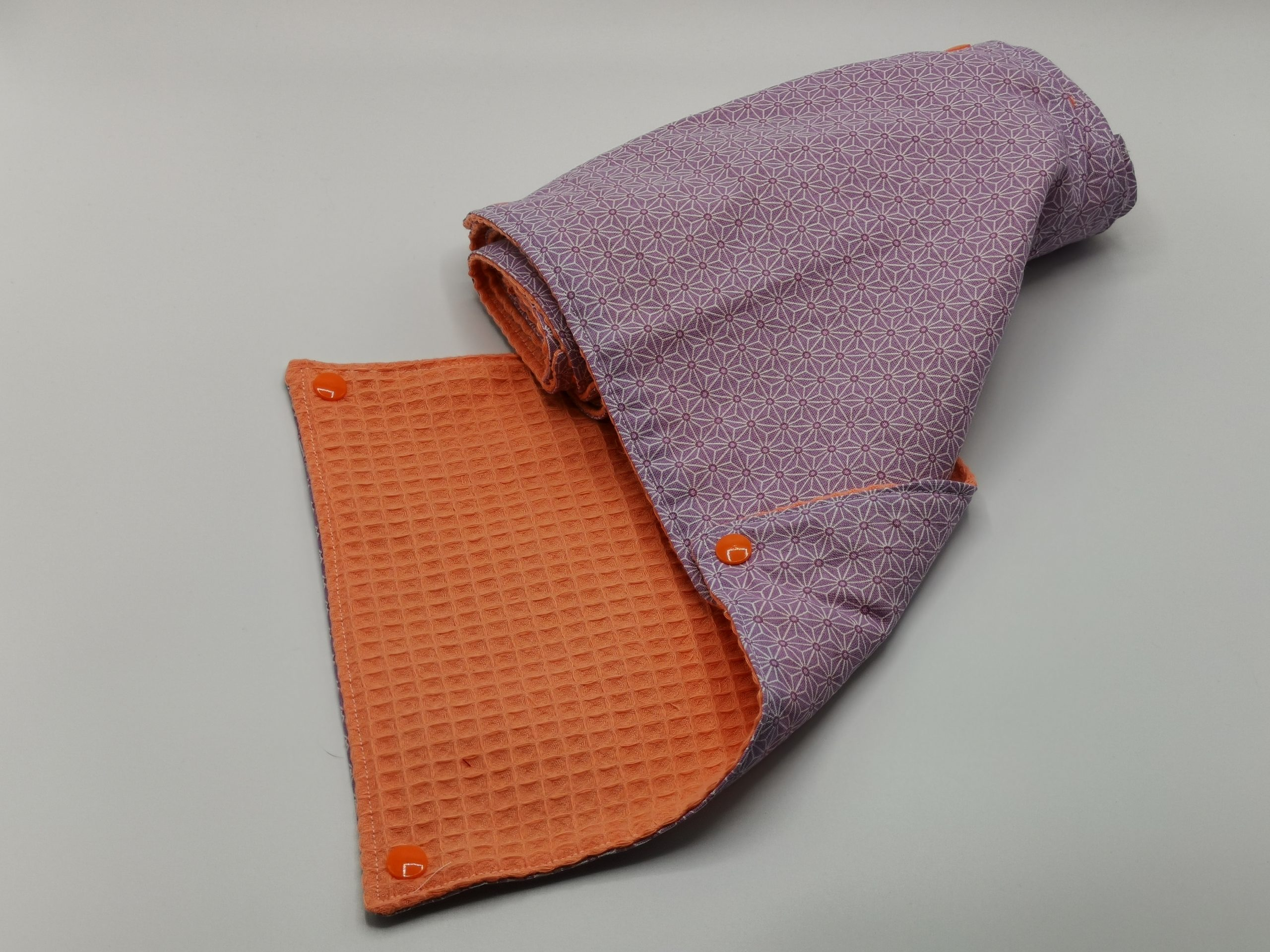 9 feuilles de sopalin artisanal violet orange