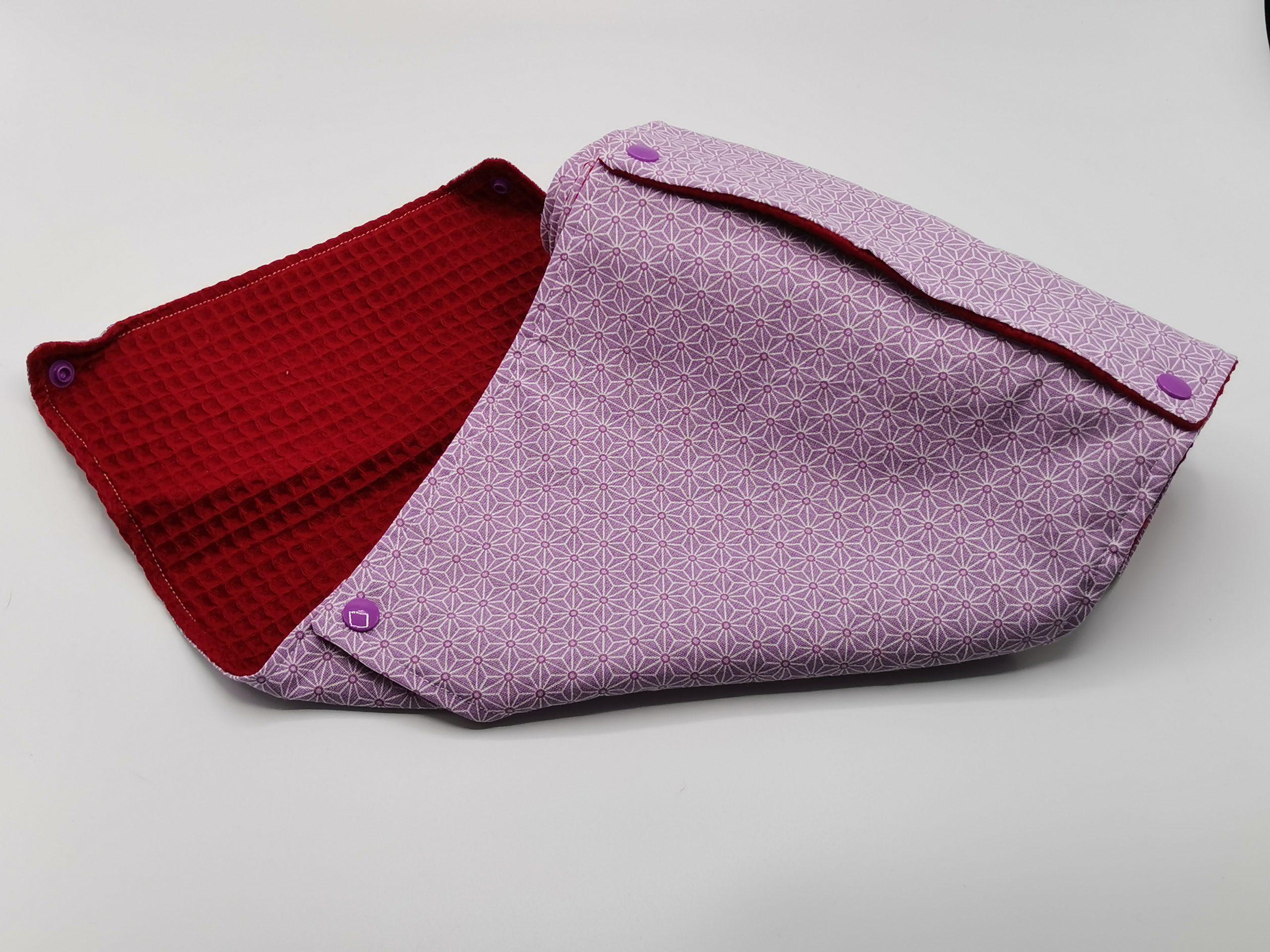 9 feuilles de sopalin artisanal violet rouge